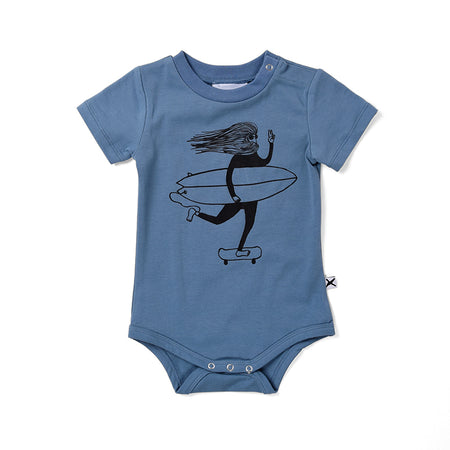Surf Buddies Onesie - Steel Blue