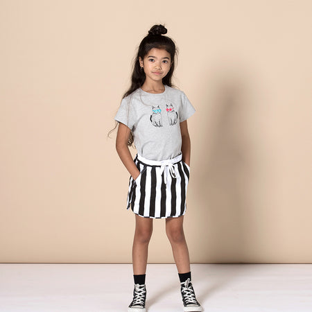 Minti Cool Cats Tee - Grey Marle
