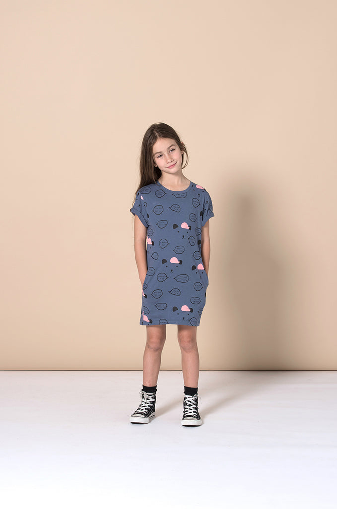 Minti Kind Comments Tee Dress - Midnight
