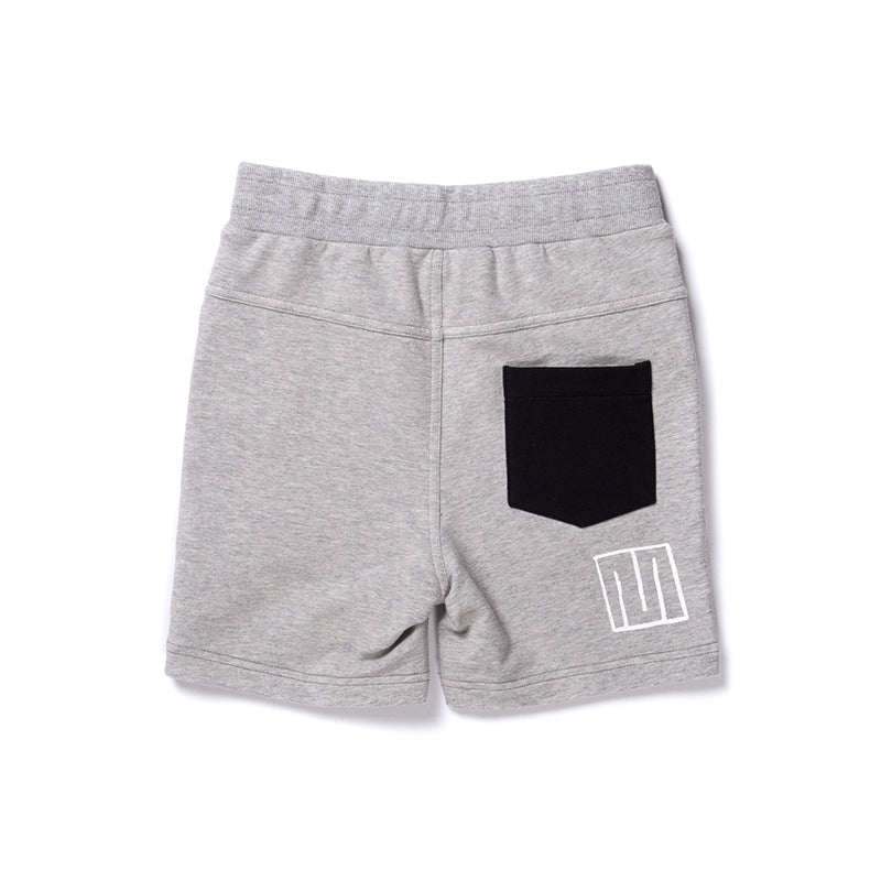 Minti Zippy Short - Grey Marle