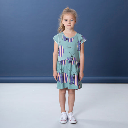 Littlehorn Lovely Butterfly Dress - Sage