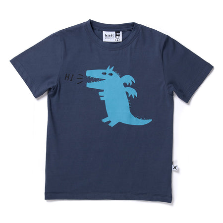 Minti Hi Happy Dragon Tee - Midnight