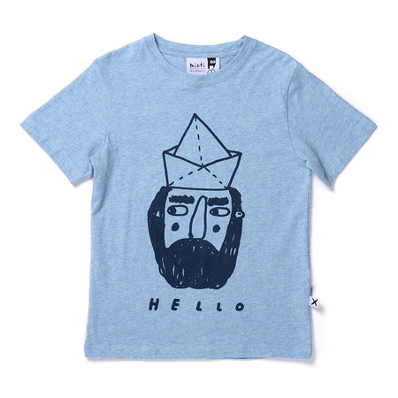 Minti Hello Goodbye Sailor Tee - Blue Marle