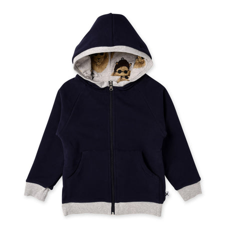Minti Cool Cat Furry Reversible Zip Up