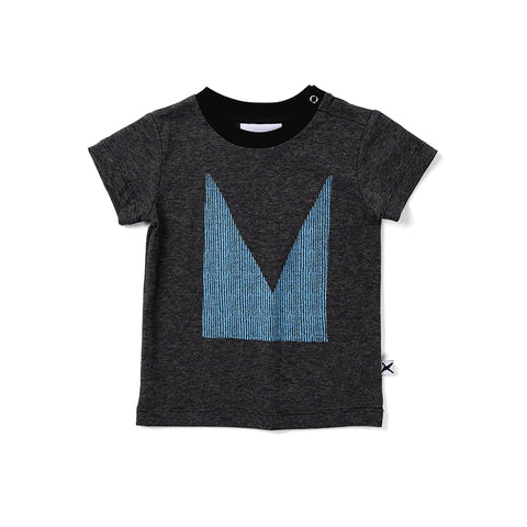 Minti Cut Up M Tee - Black Motley