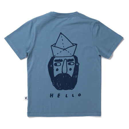 Minti Hello Sailor Tee - Steel Blue