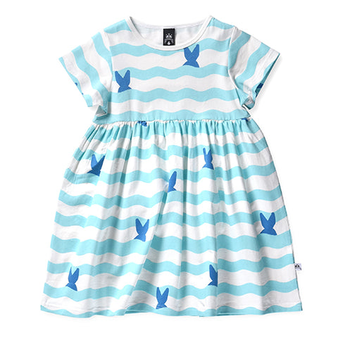 Littlehorn Whale Tails Dress - White