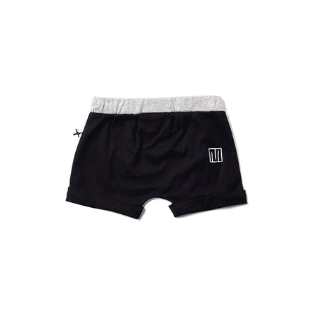 Minti Easy Short - Grey Marle/Black