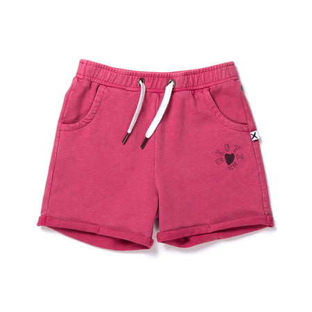 Minti Play Short - Raspberry Wash