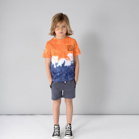 Minti Triple Tee - Orange/White/Blue