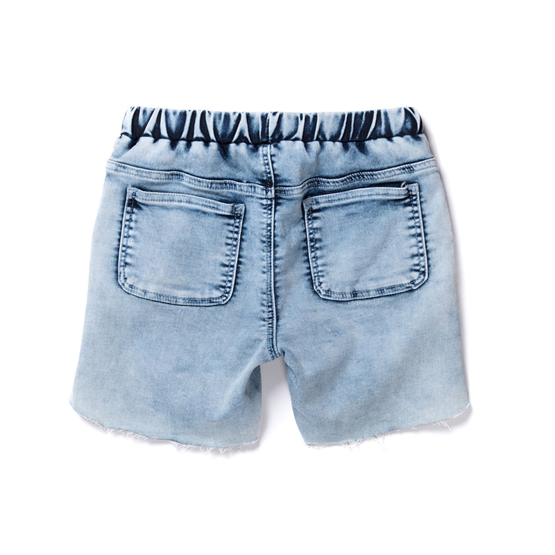 Minti Harlow Denim Short - Soft Blue Denim