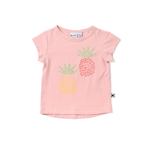Minti Pineapple Pair Tee - Muted Pink