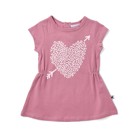 Minti Squiggle Heart Dress - Pastel Violet