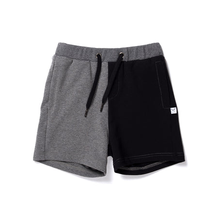 Littlehorn Branded Sweat Short - Charcoal/Black