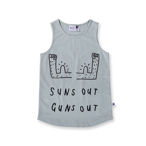 Minti Suns Out Singlet - Muted Green