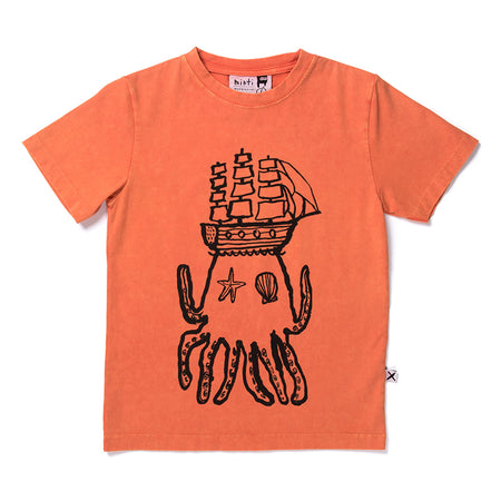 Minti Octo Tee - Orange