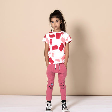 Minti Cool Cats Trackie Tights - Rose