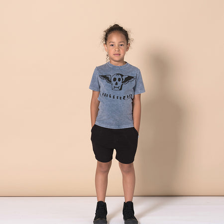 Minti Heeey Tee - Blue Wash