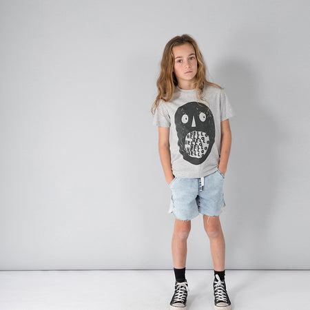 Minti Holler Tee - Grey Marle