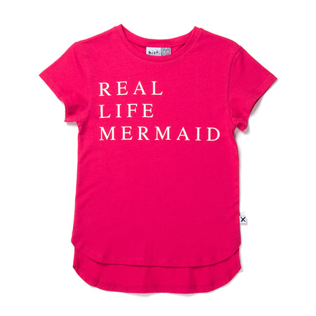 Minti Real Life Mermaid Tee - Raspberry