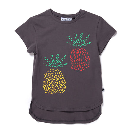 Minti Pineapple Pair Tee - Dark Grey