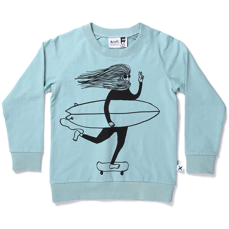 Minti Surfing Buddies Crew - Muted Green