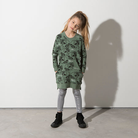 Minti Friendly Racoons Sweater Dress