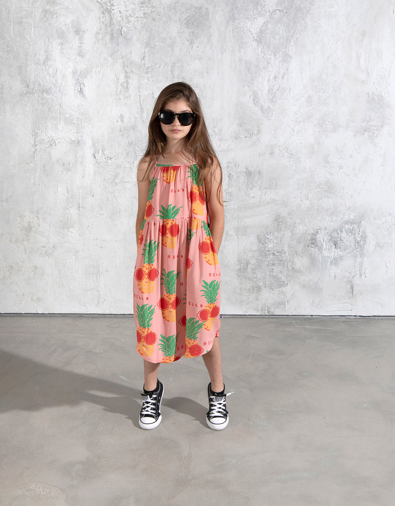 Minti Sunny Pineapples Midi Dress