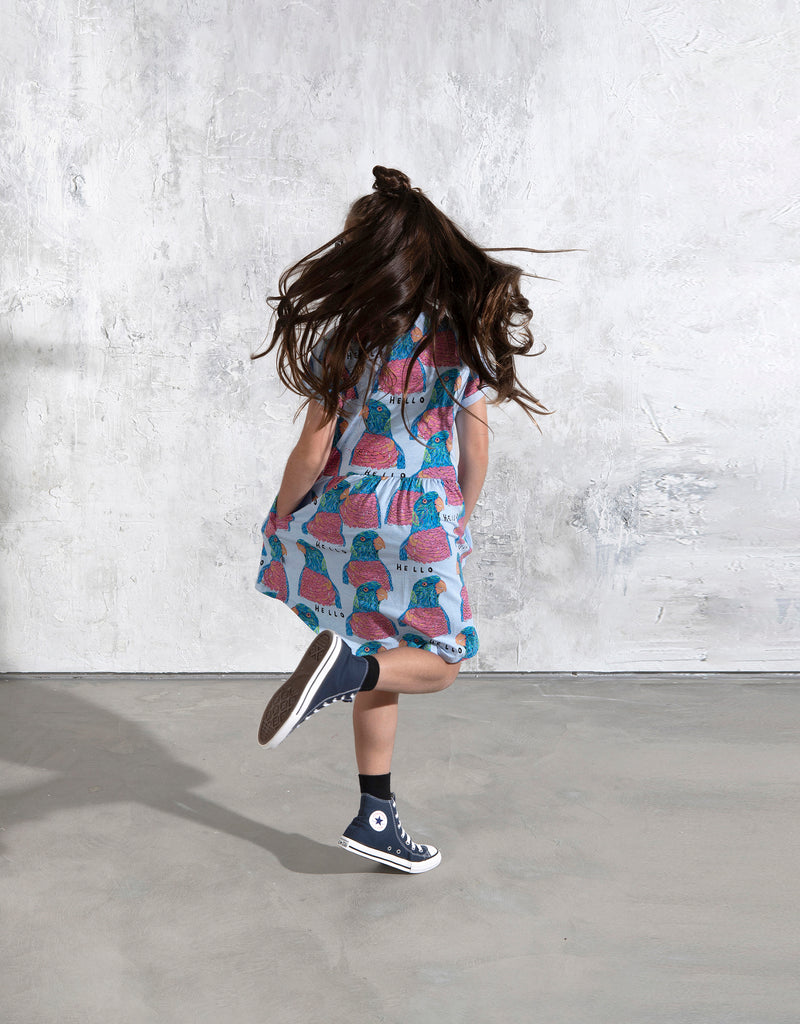 Minti Hello Parrots Dress