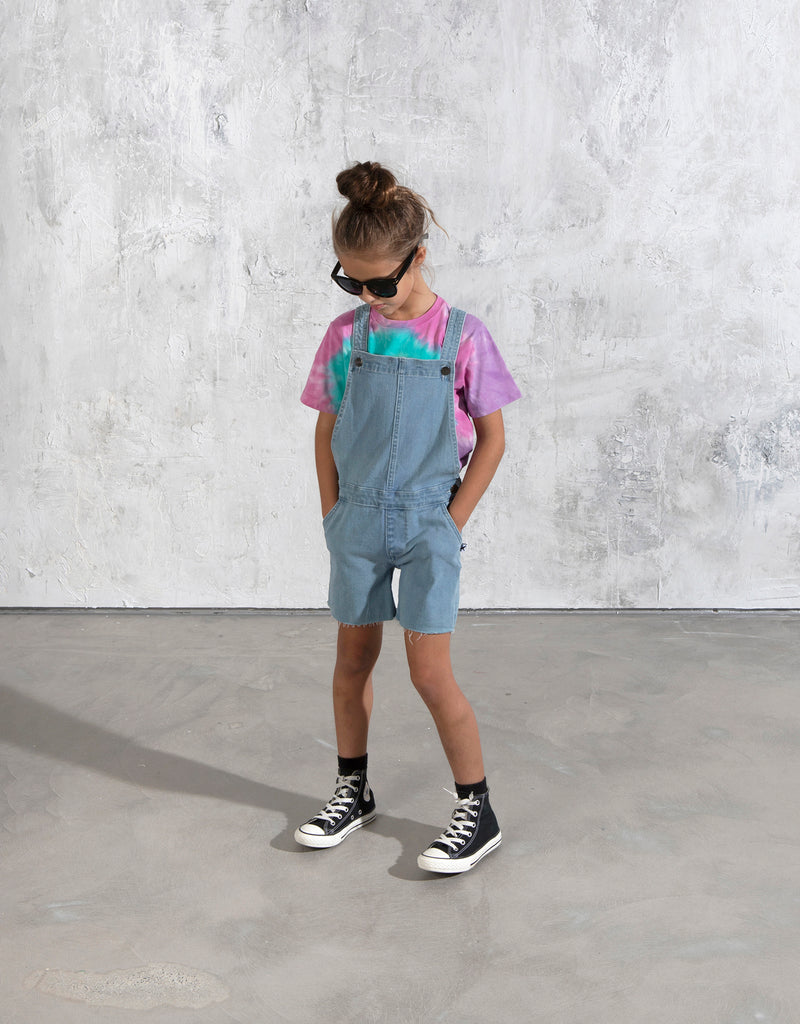 Minti Cut Off Dungarees