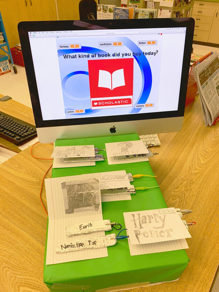 Makey Your Own Interactive Exit Ticket with Scratch and Makey Makey
