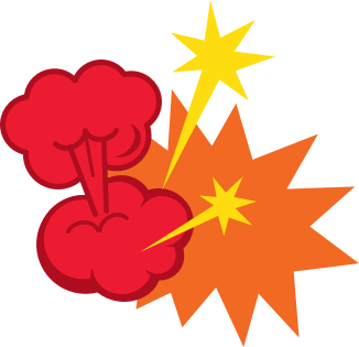 graphic of explosion