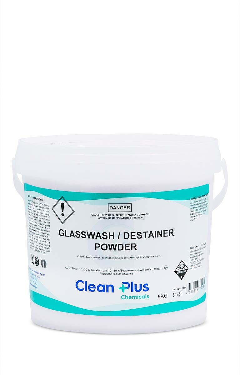 Glasswash / Destainer Powder -cleaning supplies