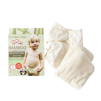 Eco Bamboo Cloth Nappies. 3-18kg - DAKCO-Australia