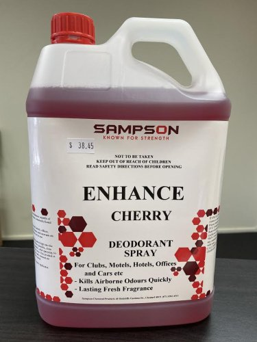 Commercial Deodorant Spray -  ENHANCE - Cherry Scented - DAKCO-Australia