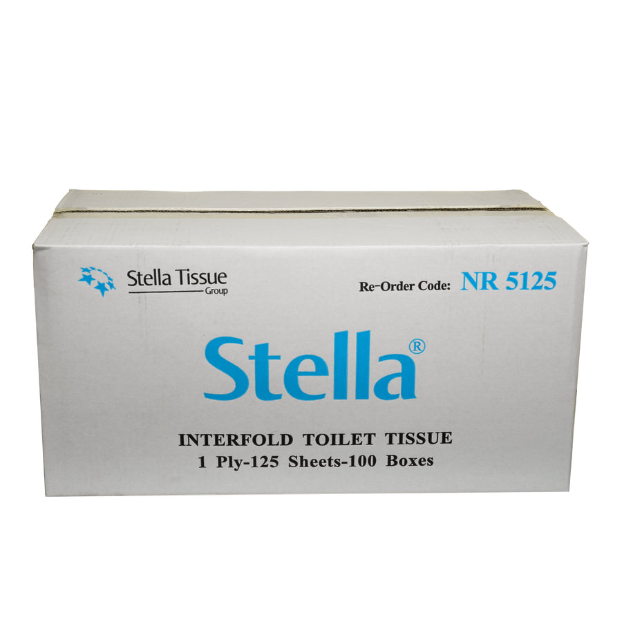 Stella Deluxe 125sht Boxed Interleaved Toilet Tissue -cleaning supplies