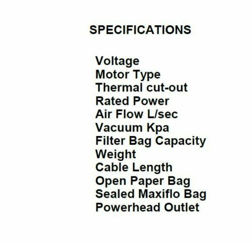vacuum/Origin Backpack - 150bv (VBV150) -cleaning supplies