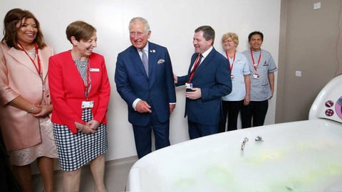HRH Prince of Wales at Bathing System in Hospice