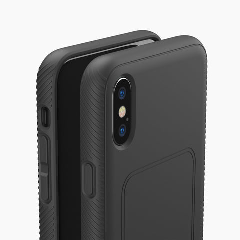 iPhone XS Max protective case with magnetic back compatible with wireless charging