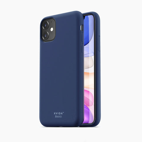 iPhone 11 phone case soft silicone magnetic slim compatible with wireless charging iPhone 11 case with magnetic back BLUE