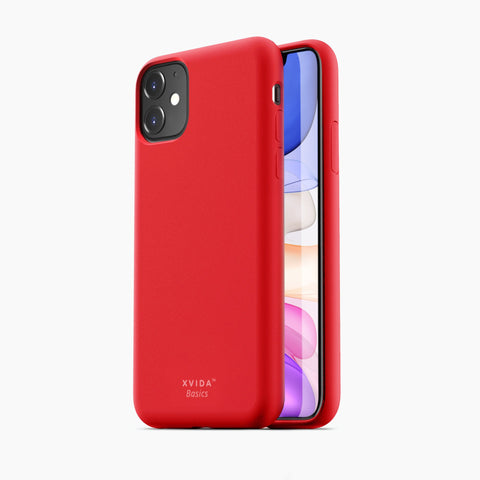 iPhone 11 phone case soft silicone magnetic slim compatible with wireless charging iPhone 11 case with magnetic back RED