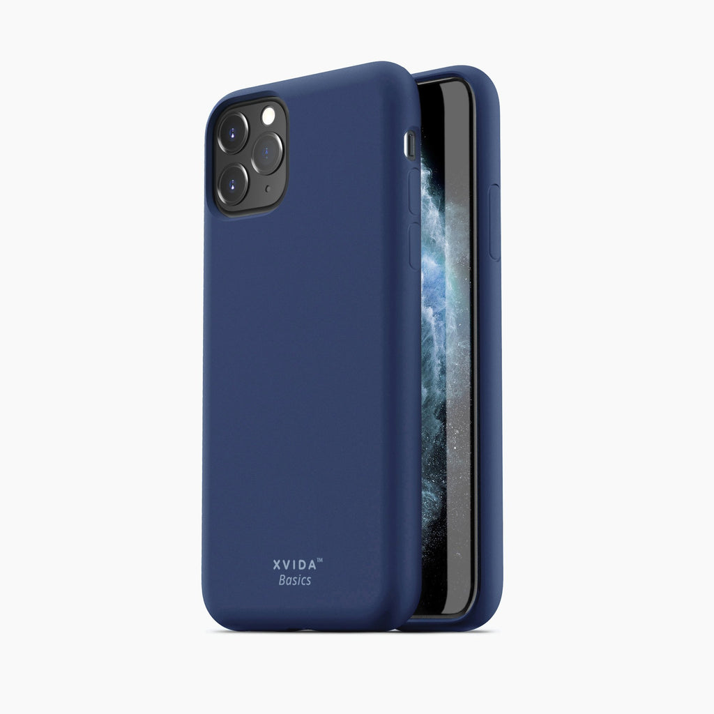 iPhone 11 Pro phone case soft silicone magnetic slim compatible with wireless charging iPhone 11 Pro case with magnetic back BLUE