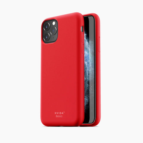 iPhone 11 Pro phone case soft silicone magnetic slim compatible with wireless charging iPhone 11 Pro case with magnetic back RED