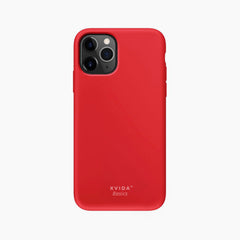 Silicone Phone Case Back Cover for iPhone 11 Pro Red with magnetic back