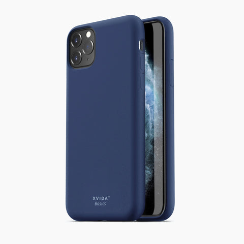 iPhone 11 Pro Max phone case soft silicone magnetic slim compatible with wireless charging iPhone 11 Pro Max case with magnetic back BLUE