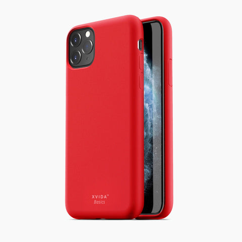 iPhone 11 Pro Max phone case soft silicone magnetic slim compatible with wireless charging iPhone 11 Pro Max case with magnetic back RED