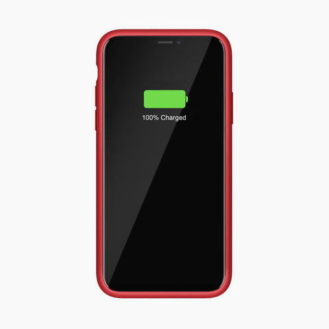 Liquid Silicone Full Protective Magnetic Phone Case for iPhone 11 Pro Max Red