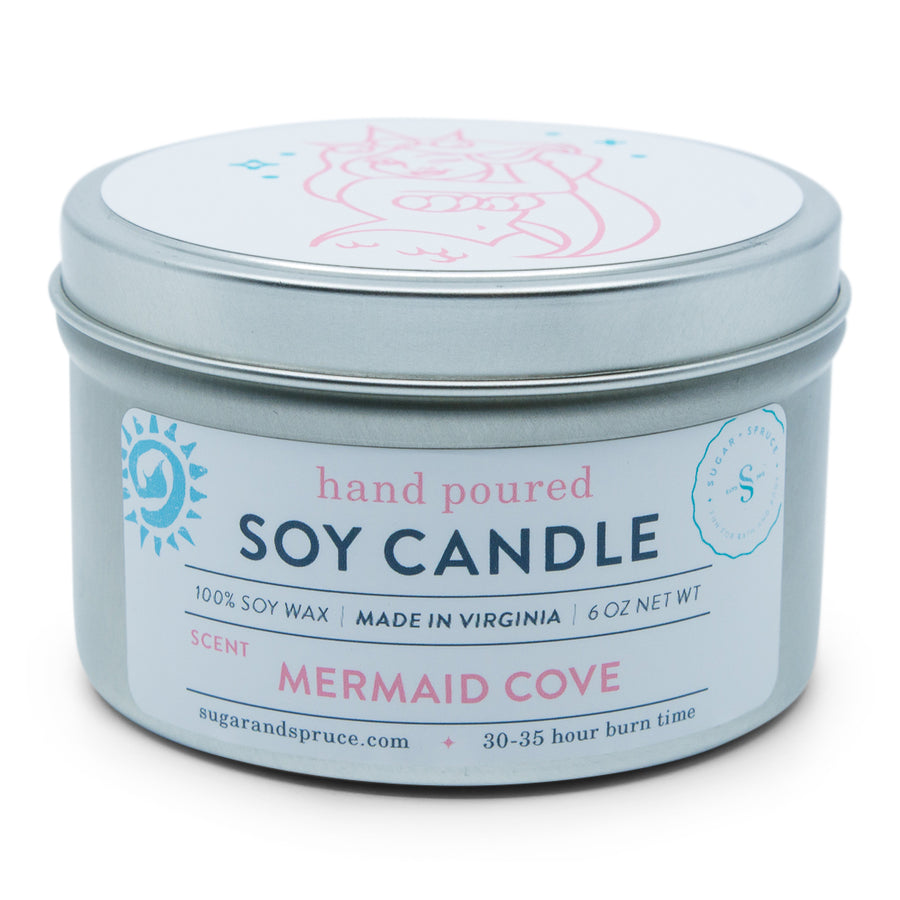 Mermaid Cove Tin Candle
