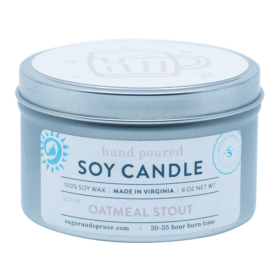 Oatmeal Stout Tin Candle Fall Edition