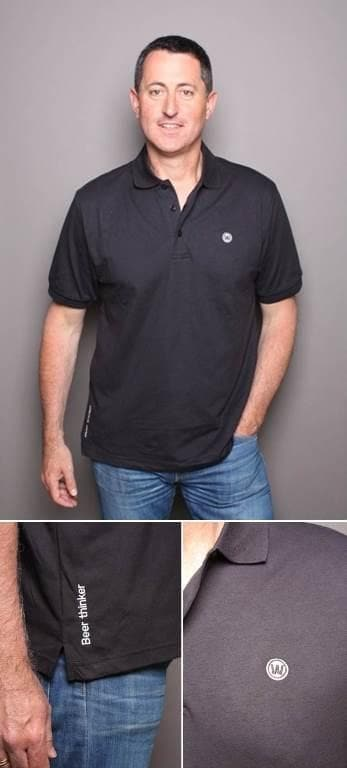 WilliamsWarn BrewKit Polo Shirt Black